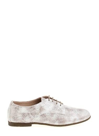 Divarese Yılan Derili Oxford Ayakkabı Bej